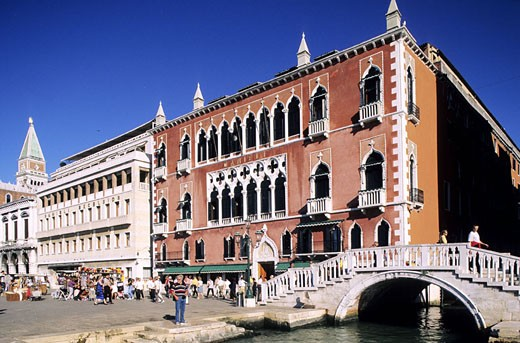 Stock Photo: 1792-50882 Italy, Venetia, Venice, Danieli Hotel in front of the canal