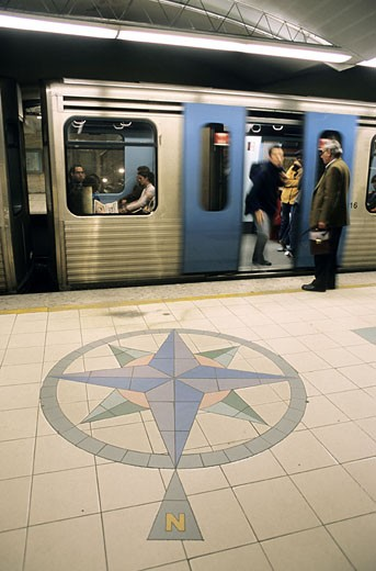 Stock Photo: 1792-51156 Portugal, Lisbon, Intendente subway station