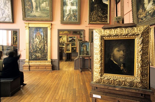 Stock Photo: 1792-52842 France, Paris (75), self-portrait of Gustave Moreau in its apartment-museum