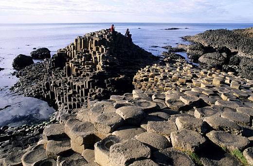 United Kingdom, Northern Ireland, Antrim county, the Giants Causeway : Stock Photo