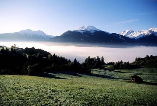 Austria, Upper Tyrol at Thurn pass, Kitzbuhel : Stock Photo