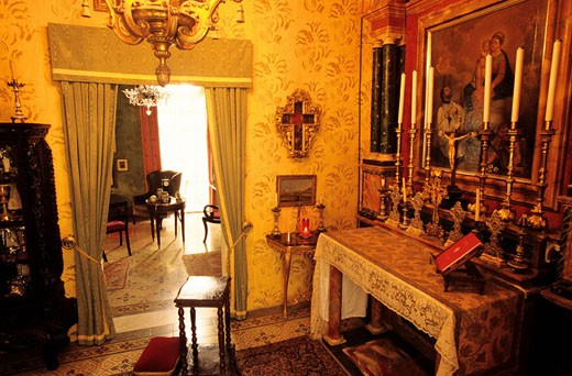 Malta, Valletta, Casa Rocca Piccola, the chapel : Stock Photo