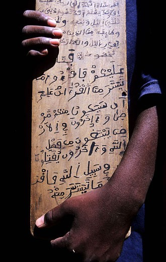 Stock Photo: 1792-53900 Mali, in the Koranic school of Djenne, Koran verses