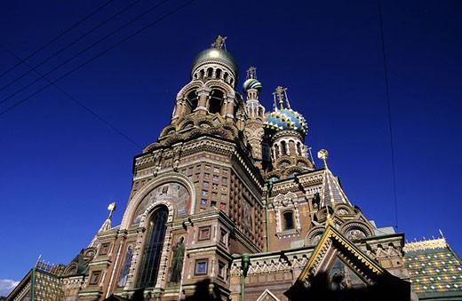 Russia, Saint Petersburg, Resurrection of Christ church : Stock Photo