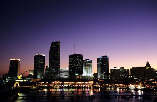 Stock Photo: 1792-54871 United States, Florida, Miami downtown
