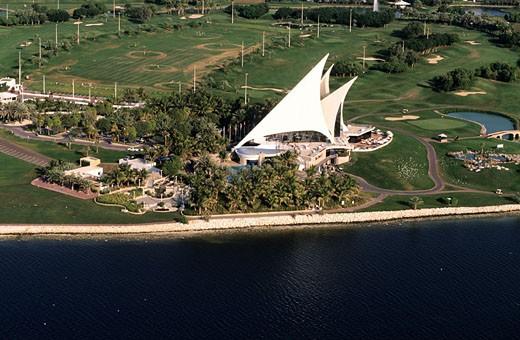 United Arab Emirates, Dubai, Dubai Creek golf club : Stock Photo