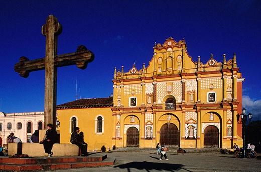 Mexico, Chiapas, San Cristobal de las Casas Cathedral : Stock Photo