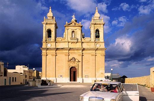 Stock Photo: 1792-56219 Malta, Gozo Island, Xaghra church