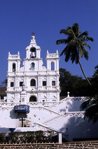 India, Goa State, Panaji, the Church of Our Lady of Immaculate Conception : Stock Photo