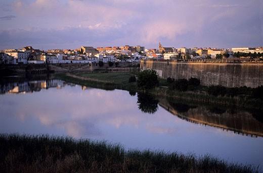 Spain, Andalusia, Cordoba city and the Guadalquivir river : Stock Photo