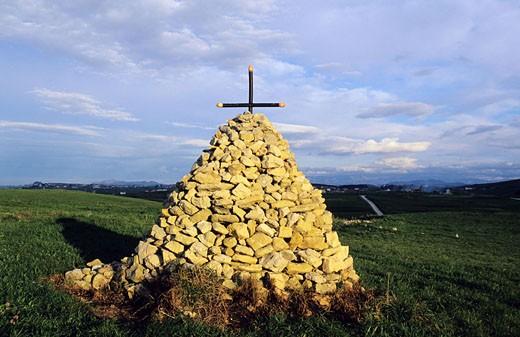 Spain, Cantabria, a calvary : Stock Photo