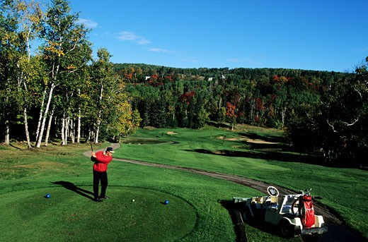 Stock Photo: 1792-56748 Canada, Quebec, Charlevoix, La-Malbaie-Pointe-au-Pic, the golf of the Richelieu Manor