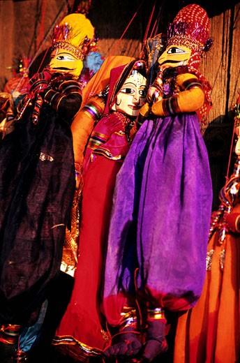 Stock Photo: 1792-56924 India, Rajasthan, Jaipur, puppets