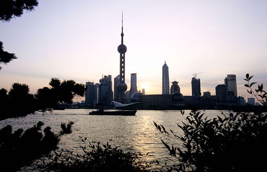 Stock Photo: 1792-57080 China, Shanghai, Huangpu river, Pudong district