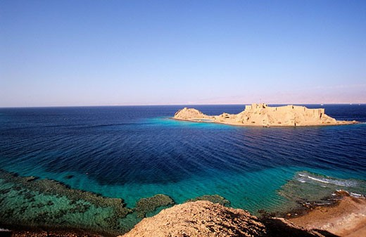 Stock Photo: 1792-58904 Egypt, desert of Sinaï, the castle of Coral Island, near Taba and on the shores of the Red Sea