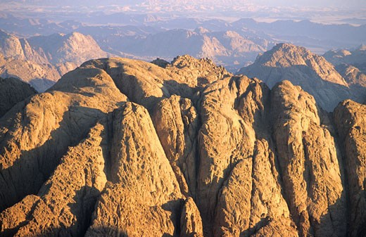 Stock Photo: 1792-58915 Egypt, Sinai desert, panorama from the summit of Moses Mount