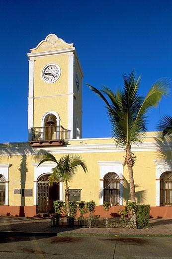 Stock Photo: 1792-59435 Mexico, Baja California Sur State, Los Cabos, San Jose del Cabo village, city hall