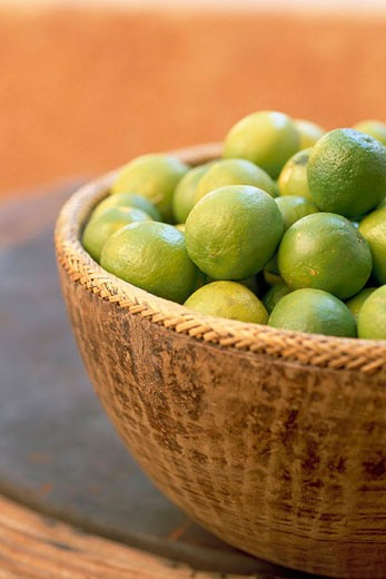 Mexico, Baja California, Los Cabos village Cabo San Jose Green lemons waiting for tequila : Stock Photo
