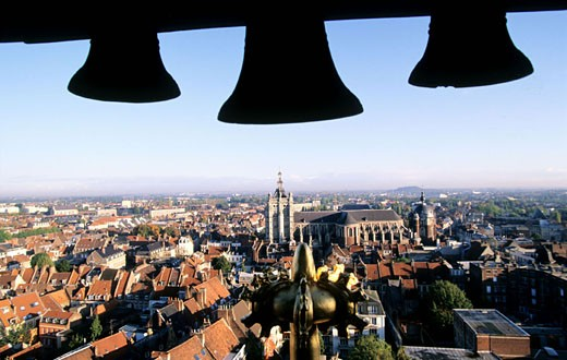 France, Nord (59), Douai city view from the belfry : Stock Photo