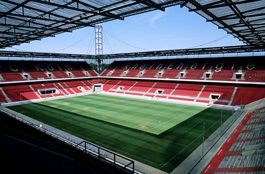 Germany, North Rhine-Westphalia, Köln, RheinEnergie Stadion which will accomodate the matches of the FIFA Football World Cup 2006 : Stock Photo