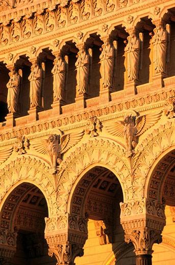 France, Rhone (69), Lyon, Notre-Dame de Fourviere basilica : Stock Photo