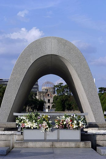 Stock Photo: 1792-61052 Japan, Honshu Island, Hiroshima, the Peace Memorial (Genbaku Dome)
