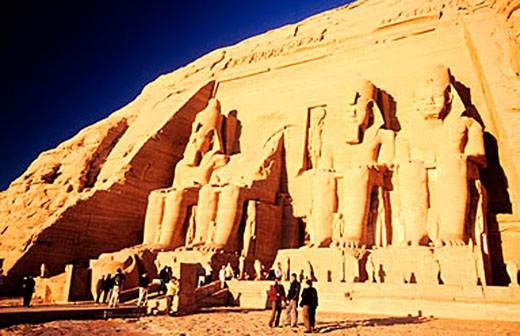 Stock Photo: 1792-62708 Egypt, Nubia, Abu Simbel, Nefertari´s temple (Lake Nasser)