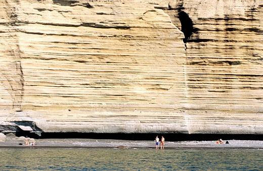 Italy, Sicily, Aeolian Islands, island of Salina, Pollara cliffs : Stock Photo