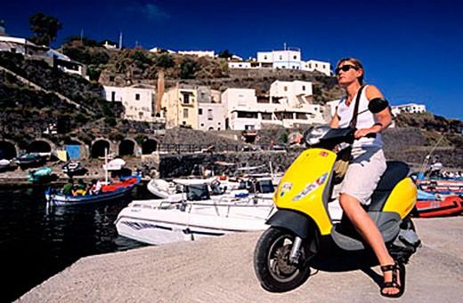 Italy, Sicily, Aeolian Islands, Salina island, Rinella harbour : Stock Photo