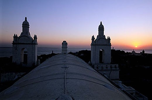 Stock Photo: 1792-63454 India, Union Territory of Daman and Diu, Diu city, sunset over the Oman Sea from Saint Thomas church