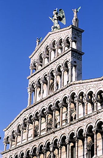 Stock Photo: 1792-64062 Italy, Tuscany, Lucca town, the church San Michele in Foro on St. Michael Square