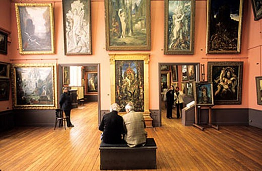 France, Paris (75), show room of the Gustave Moreau appartment-museum : Stock Photo