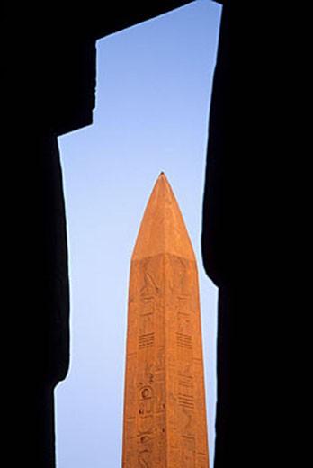 Egypt, Nile Valley, Luxor, Karnak temple : Stock Photo