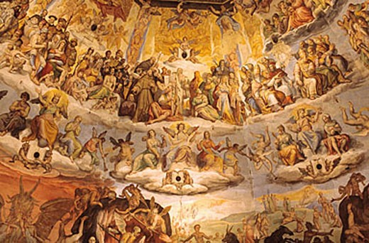 Stock Photo: 1792-64664 Italy, Tuscany, Florence, the cathedral Santa Maria del Fiore, fresco of the cupola : the Last Judgment
