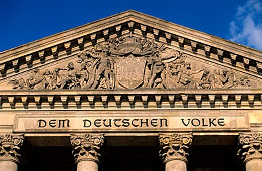Stock Photo: 1792-64990 Germany, Berlin, district of Mitte & Tiergaten, front of the Reishtag (parliament)