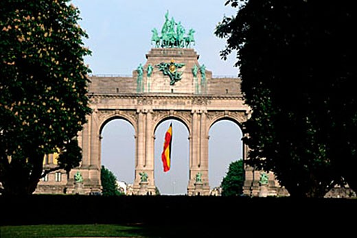 Stock Photo: 1792-65496 Belgium, Brussels, the Park of Fiftieth anniversary and its monumental arch