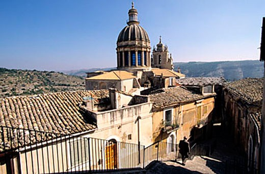 Italy, Sicily, Ragusa Ibla, San Giorgio Cathedral : Stock Photo