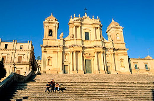 Italy, Sicily, Noto, San Nicolo Cathedral : Stock Photo