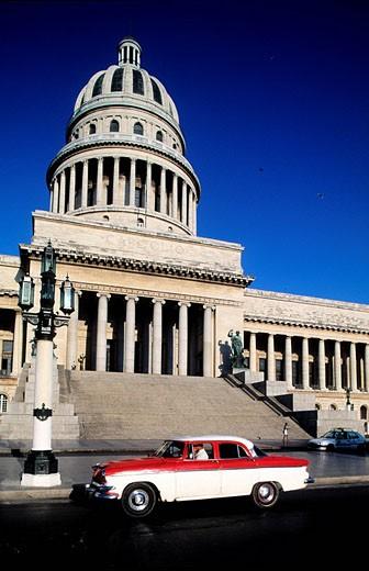 Cuba, Havana, Capitole : Stock Photo