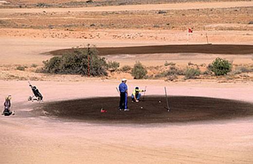 Australia, South Australia, Coober Pedy, part of golf in the desert : Stock Photo