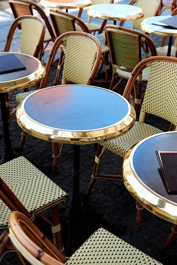France, Paris, cafe terrace : Stock Photo