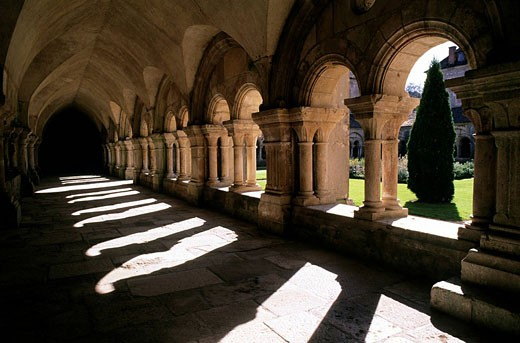 Stock Photo: 1792-67638 France, Cote d´Or, Fontenay Cistercian Abbey 1118, listed as World Heritage by UNESCO