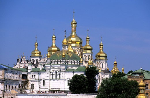 Ukraine, Kiev, Laure of catacombs Petchersk classified as World Heritage by UNESCO, Dormition cathedral : Stock Photo