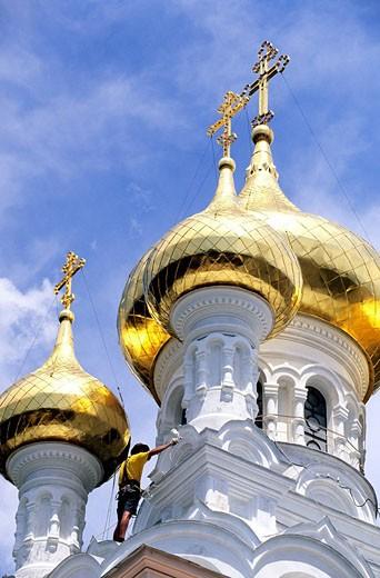 Ukraine, Yalta, Alexandre Nevski cathedral : Stock Photo
