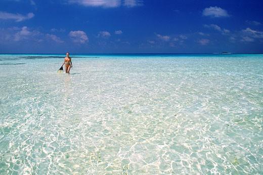 Maldive Islands, Atoll Faafu 80 miles south of Male located on Nilandhe island : Stock Photo