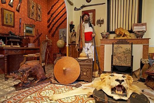 France, Bouches du Rhone, Provence, Tarascon, museum house of Tartarin famous character of Alphonse Daudet : Stock Photo