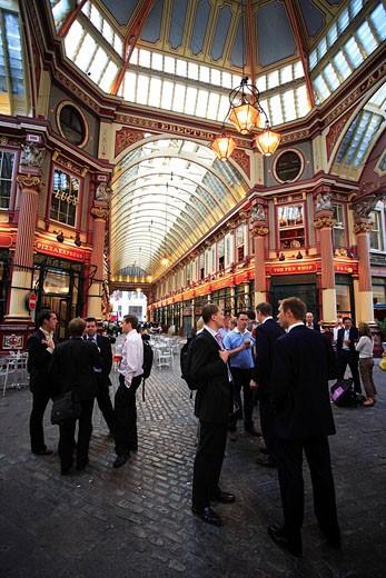 United Kingdom, London, City, Leadenhall Market, Victorian Hall Built in 1881 by Horace Jones : Stock Photo