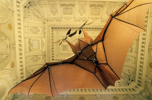 France, Paris, Arts and Crafts Museum, Plane 3 by Clement Ader : Stock Photo