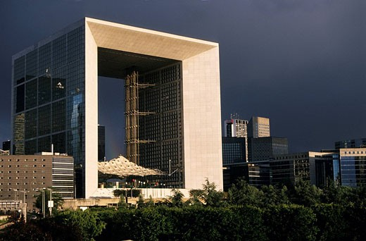 France, Hauts de Seine, La Defense, The Great Arch by architect Otto Von Spreckelsen : Stock Photo