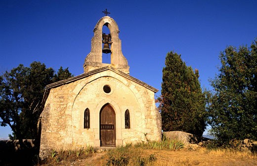 Stock Photo: 1792-69143 France, Alpes de Haute Provence, Moyenne Durance Valley, Lurs, Saint Michel chapel